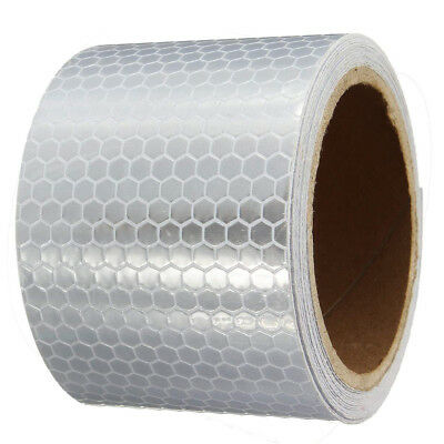 NEW Rolling White Car Reflective Safety Warning Tape Conspicuity Film Sticker UK