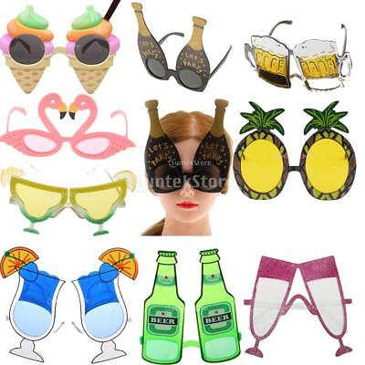 Tropical Flamingo Cocktail Hawaiian Party Sunglasses Fruit Pieapple Glasses