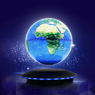 Magnetic Levitation Earth Model Levitating Floating Globe World Map LED Decor