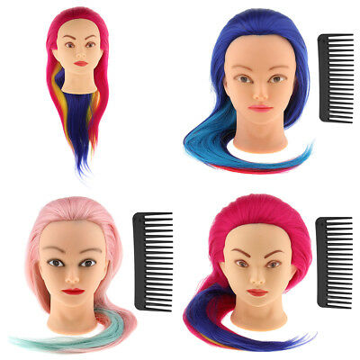 Salon Cosmetology Hairdressing Practice Training Mannequin Head Mount Hole Stand