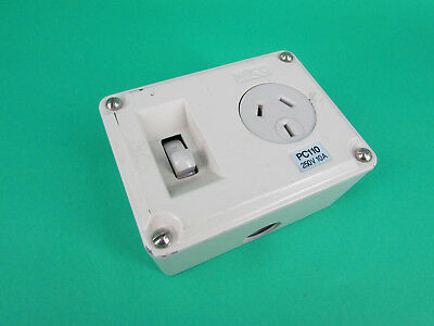 Wilco PC110 Metal Clad Outlet Power Point Switched Socket