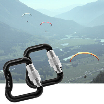 2x Paraglider Paragliding Parachute Climbing Safety Auto Lock Carabiner 20KN