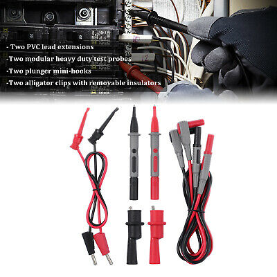 CAT III 1000V 10A Test Lead Kit Digital Multimeter Accessory w Alligator Clips