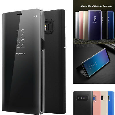 Luxury Mirror View Hard Flip Case Stand Cover for Samsung Galaxy Note8 / S8 S8+