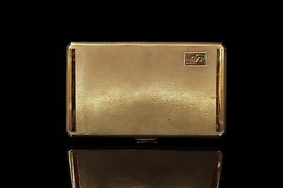 Antique Original Silver Gold European Handmade Big Heavy Cigarette Case