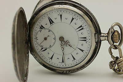 Antique Silver  Gold Decorated Ottoman Quarter Repeater Pocket Watches