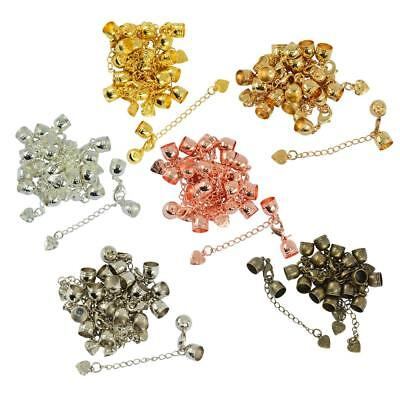 10pcs Cord End Cap 10mm Lobster Clasps Charm Extension Chain Jewelry Finding