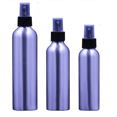 30-250ml Empty Aluminum Bottle Silver Metal Bottle With Black Fine Mist Spray EP
