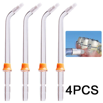 4PC - Replacement Water Flosser Tips Oral Irrigator Nozzle Attachments Polishing