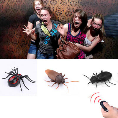 Remote Control Realistic Fake Cockroach RC Prank Insects Joke Scary Trick Toys