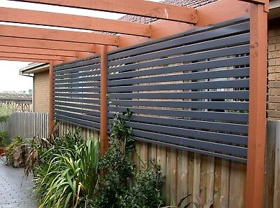 Aluminium Slat Screen Fence 100 x 16mm - Double Ribs - Strong Slats - UV - Kits
