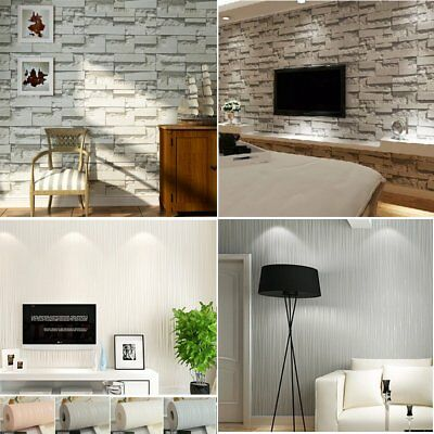 3D Luxury Wallpaper Bedroom Living Mural Roll Modern Stone TV Wall Background
