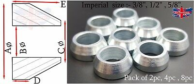 """3/4"""" 1/2"""" 5/8""""  Imperial Size Cone Spacer Heims Heim Joint Rod End Ends Joints"""