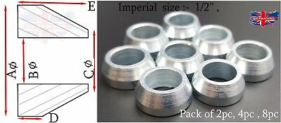 "1/2""  Cone Spacer Heims Heim Joint Rod End Ends Joints Imperial Size"