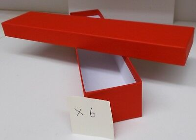 Loco/Locomotive Storage Boxes, Large (Red) with Lids x 6 - New.