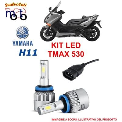 Kit 2 Pz Led H11 6000K  Yamaha Tmax T-Max 530 Specifico Dal 2012 Al 2014