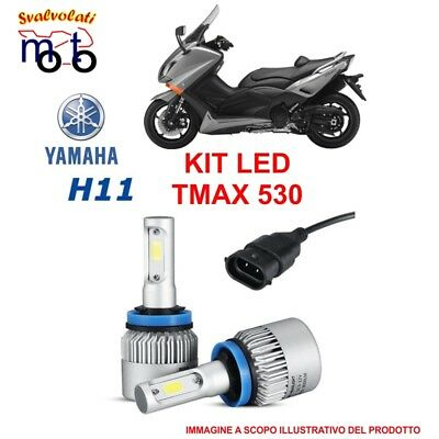 Kit 2 Pz Led H11 6000K Luce Bianca Yamaha Tmax T-Max 530 Specifico Anno 2012