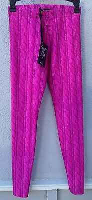 $52 NWT Zara Terez Pink Cable Knit  Design Leggings Girls Size Small 7/8