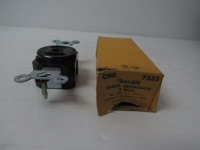 Hubbell Twist-Lock Single Recepticle 2-Wire 15A 125V 7535