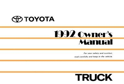 1981 Toyota 4WD Pickup Owners Manual User Guide Reference Operator Book Fuses