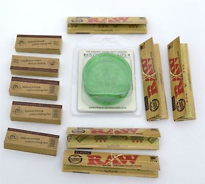 Set of 5x Raw Kingsize Slim Rolling Paper with Grinder & Free Tips