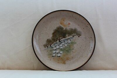Vintage Grayshott Pottery Decorative Plate with Sheep Design