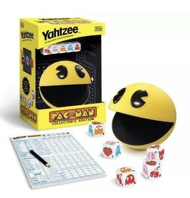 Pac-Man Yahtzee Dice Game Collectors Edition New Sealed In Box 2013 Hasbro Namco