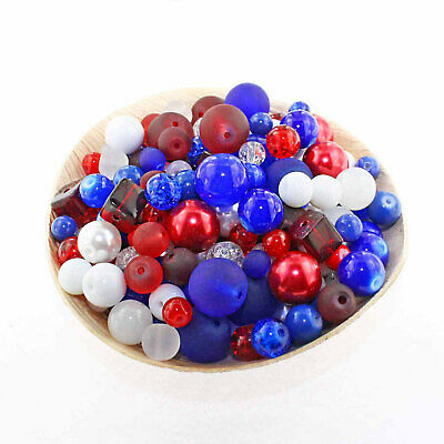 Glass Bead Mix Assorted 100 USA Color Combination 6mm to 12mm - BMX044