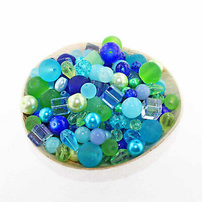 Glass Bead Mix Assorted 25 Fall Color Combination 6mm to 12mm BMX021