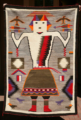 "Navajo Single Figure Yei Rug, c. 1910, 65"" x 44"""