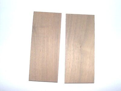 "Choose Walnut or Cherry Knife Scale / Pistol Grip Sanded  3/8"" x 2"" x 5"""