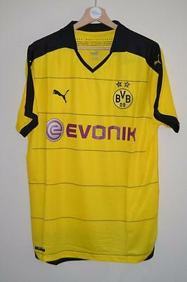 Bnwt 2015-2016 Borussia Dortmund Puma Evonik Yellow Home Shirt Uk Mens Xxl