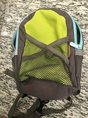 Safety Harness Backpack Tether Leash for Kids Brica Green Gray LT Blue Pre-owned