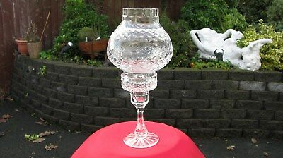 vintage Irish (large Tyrone crystal storm light candle holder lamp) waterford
