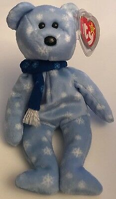 TY Retired Beanie Baby 1999 HOLIDAY TEDDY Swing Tush Tags Collectors Item