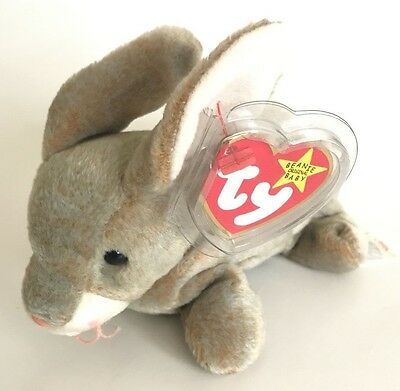 TY Beanie Baby - NIBBLY the Bunny Retired Tags Error RARE Collector's Item