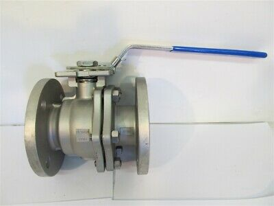 "FNW 600BL, 2-1/2"", 150 WSP, 2-Piece Full Port Flanged Stainless Steel Ball Valve"