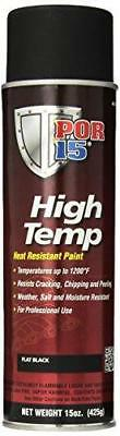 H.temp Paint Flat Black Aerosl (Por-44118)