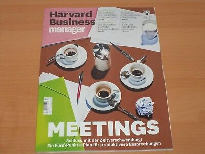 "Harvard Business Manager ""MEETINGS"" Ausgabe Oktober 2017"