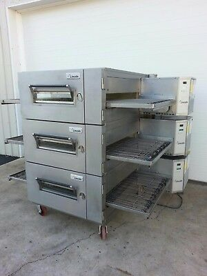 "Lincoln Impinger Model 1600 Triple Stack Gas Pizza Oven ***32"" Belt Width***"