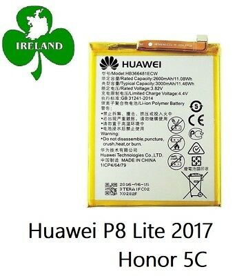 Huawei P8 Lite 2017 Battery / Honor 5C Battery Replacement  HB366481ECW New