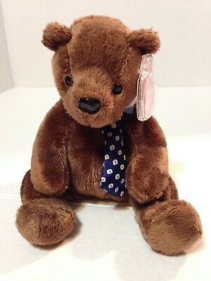 HERO THE FATHER'S DAY (with tie) BEAR 2001 TY BEANIE BABY PLUSH ANIMAL TOY NEW