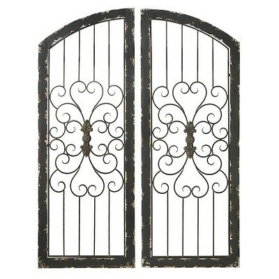 distressed black wood u0026 metal wall decor