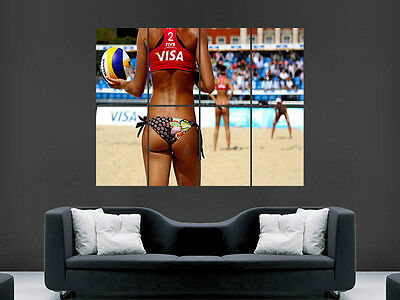 Sexy Hot Girl  Beach Volleyball  Art Wall Large Image Giant Poster