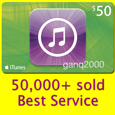 $50 APPLE US iTunes GIFT CARD (USA Store Key Code) FAST 100% genuine