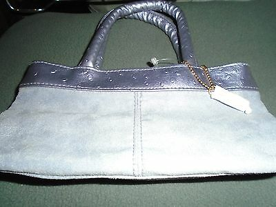 BNWT Ladies Small Sothys Lilac Suede  Secure Wedding or Evening Bag