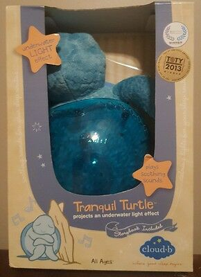 TRANQUIL TURTLE - Projects an Underwater Light Effect - Cloud B - New - Sealed