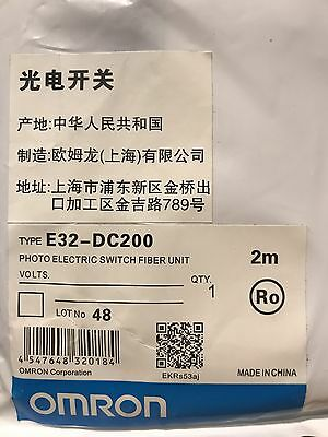 Omron Photoelectric Switch M3 Fiber Cable Unit E32-DC200E E32DC200E