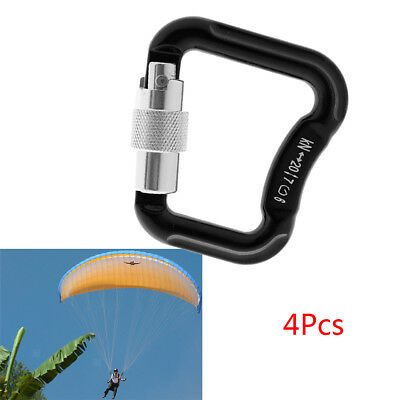 4x Paraglider Paragliding Parachute Climbing Safety Auto Lock Carabiner 20KN