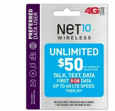 Reputable Net10 Wireless $50 Plan- Same Day Refill applied DIRECTLY to PHONE